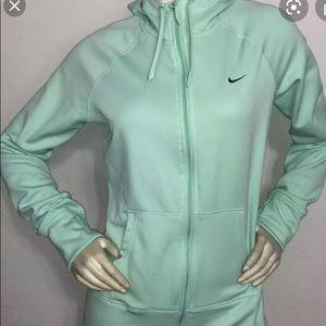 Mint Green Nike Zip Up Hoodie